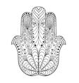 Zentangle stylized mandala vector image