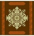 African style circle ornament or mandala vector image