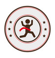 runners athlete silhouette icon vector image