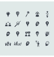 Set of idea icons vector image