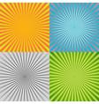 Sunburst background set vector image