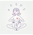 a happy pregnant woman vector image vector image