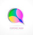 abstract chat symbol design template vector image vector image