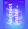 abstract poster template modern gradients vector image vector image