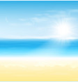 beach and tropical sea with sun summer landscape vector image vector image