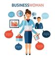 Businesswoman Design Concept vector image vector image