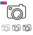 camera line icon on white background editable vector image