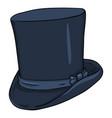 cartoon dark blue classic cylinder hat vector image vector image