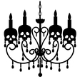 Chandelier with skulls vector image vector image