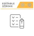 checklist line icon vector image vector image