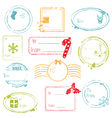 christmas gift tags collection vector image vector image