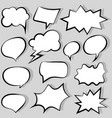 collection comic style vector image vector image