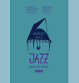 colorful jazz poster with cartoon piano vector image