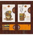 Corporate identity Menu Cup of coffee vector image vector image