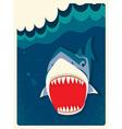 Danger Shark vector image vector image