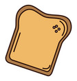 delicious toast bread isolated icon vector image