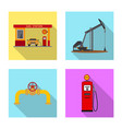 design of oil and gas sign collection of vector image