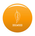 dogwood leaf icon orange vector image vector image