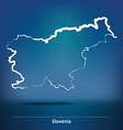 Doodle Map of Slovenia vector image vector image