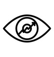 eye with graph line icon growth diagram in the vector image vector image