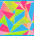 funky color triangle seamless pattern vector image vector image