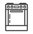 gas stove line icon kitchen and appliance vector image