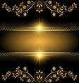 golden template vector image vector image