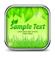Green square icon with leaves vector image vector image