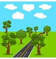 Intersections and branch roads in the animated vector image vector image