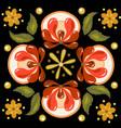 khokhloma russian pattern on a circle vector image vector image