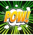 Pow comic book bubble text retro style vector image vector image