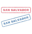 san salvador textile stamps vector image vector image