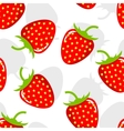 Seamless background with strawberries vector image vector image