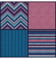 Seamless Knitted Pattern Set Collection vector image vector image