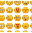 Seamless pattern with smiley face vector image vector image