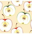 Seamless watercolor apples vector image vector image