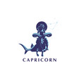 sign of the zodiac capricorn vector image