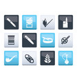 smoking and cigarette icons over color background vector image vector image