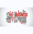 success business idea marketing word cloud concept vector image vector image