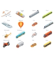 Transport Icons in Isometric Projection vector image vector image