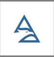 triangle eagle linehead eagle logo design vector image vector image