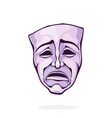 vintage theatrical drama mask for tragedy actor
