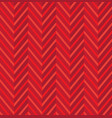 zig zag red seamless pattern vector image