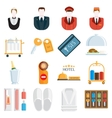Hotel icons vector image