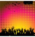 abstract background and crowd vector image