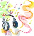 headphones abstract vector image