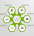 Abstract hexagon infographics template vector image vector image