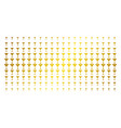 alcohol glass golden halftone effect vector image