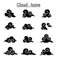 asian cloud decorate cloud curl cloud icon set vector image vector image