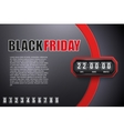 Background Black Friday and countdown timer vector image